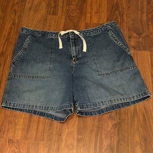 Old Navy - Denim Shorts with Tie - 12